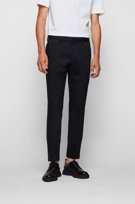 Slim-fit chinos in a stretch-cotton blend, Black