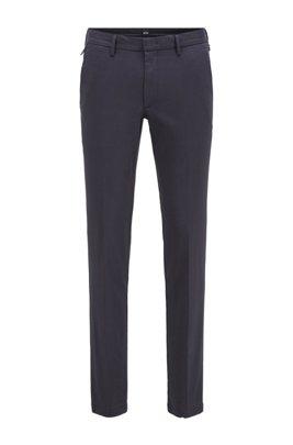 Slim-fit chinos in a stretch-cotton blend, Dark Blue