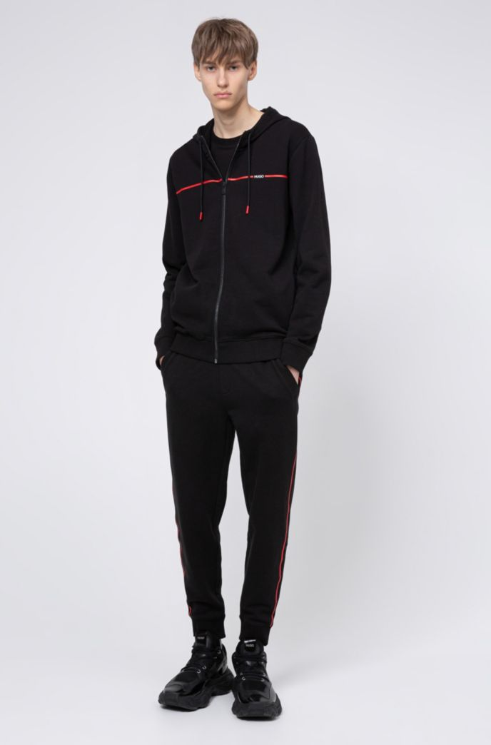 Hooded sweatshirt in French terry with new-season logo