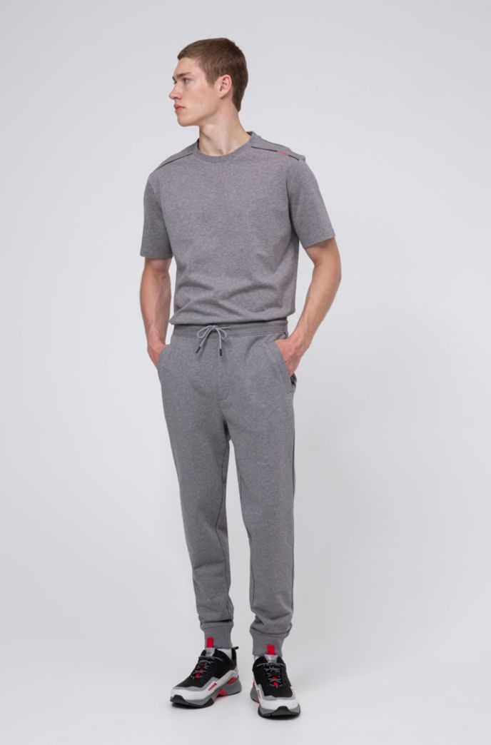 Cotton-terry jogging pants with contrast stripe and logo