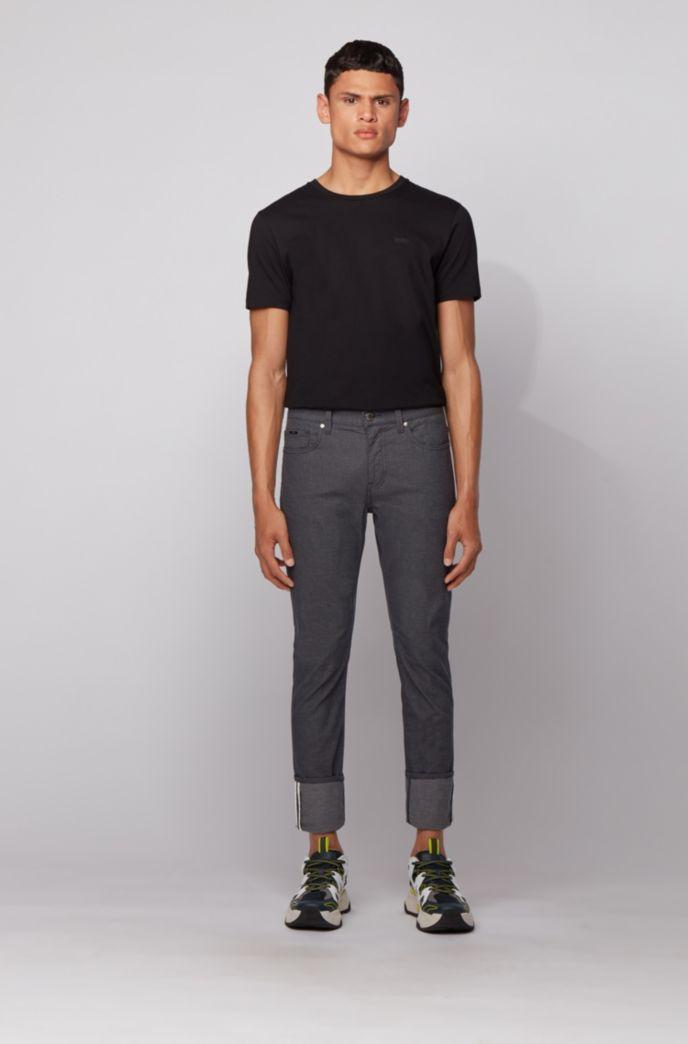 Slim-fit jeans in three-tone stretch denim