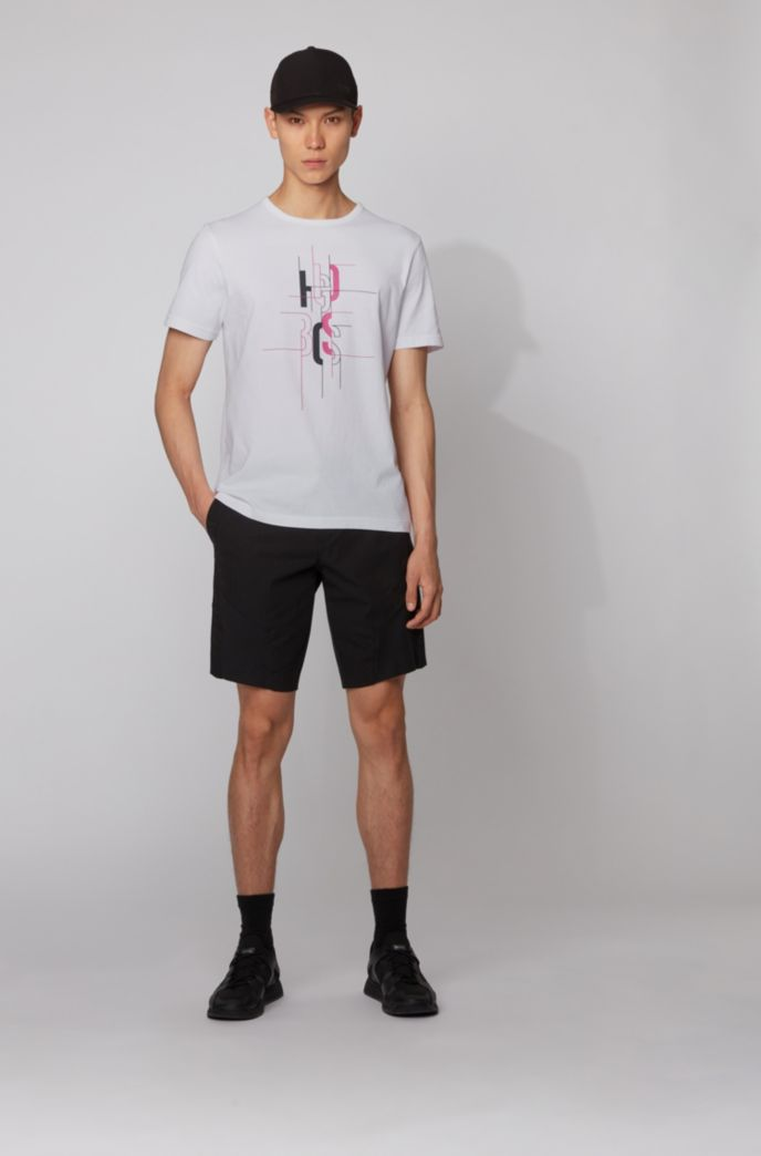Cotton T-shirt with logo artwork