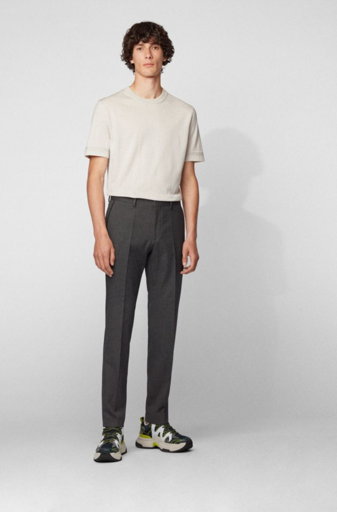 Slim-fit pants in stretch cotton with pocket detailing