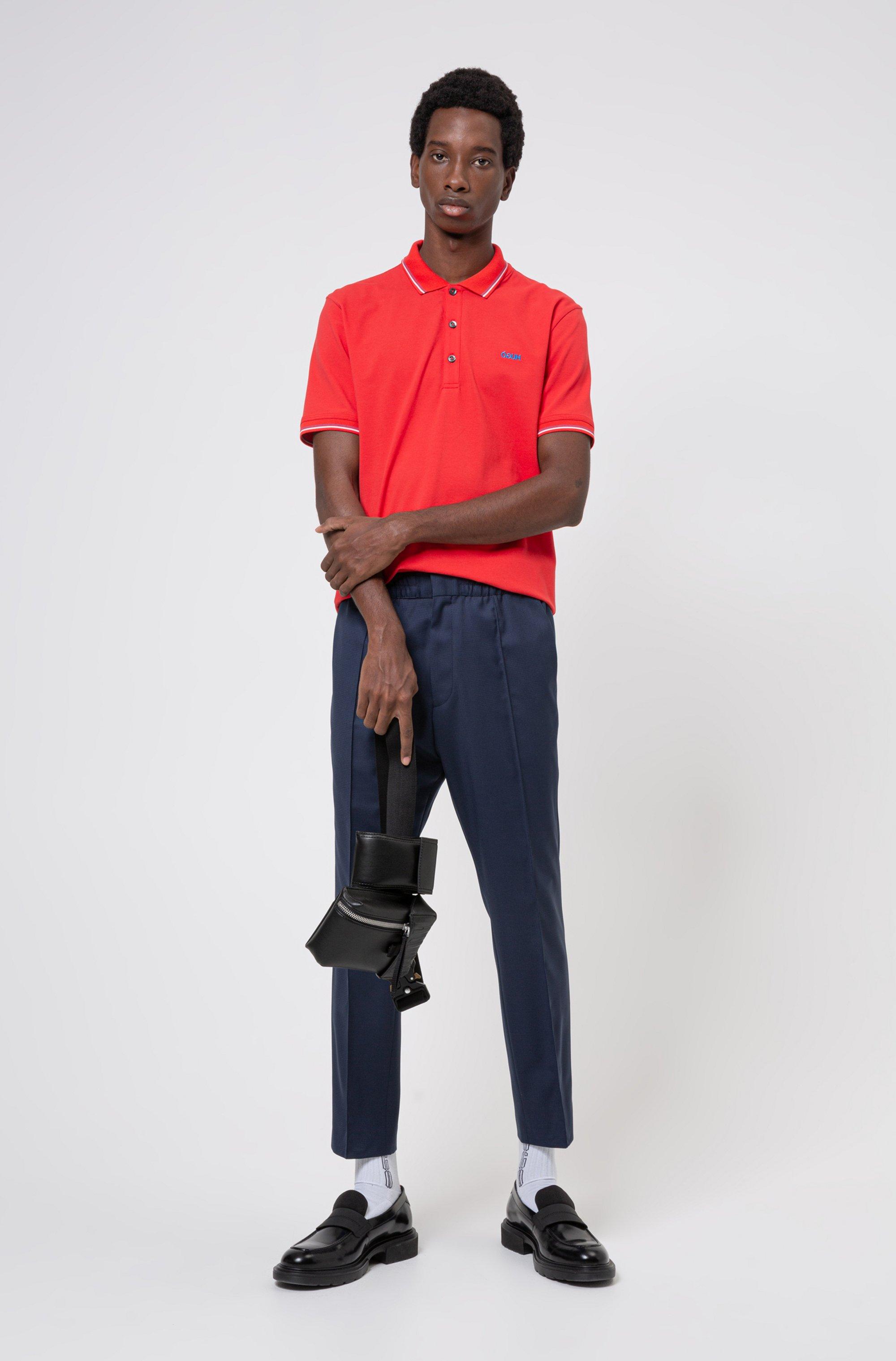 Polo Slim Fit à logo inversé brodé