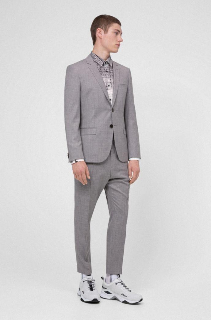 Pantalon Extra Slim Fit en laine mélangée traçable