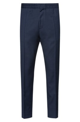Extra-slim-fit pants in a traceable-wool blend, Dark Blue