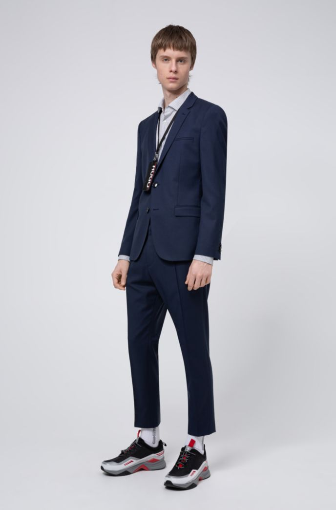 Extra-slim-fit pants in a traceable-wool blend