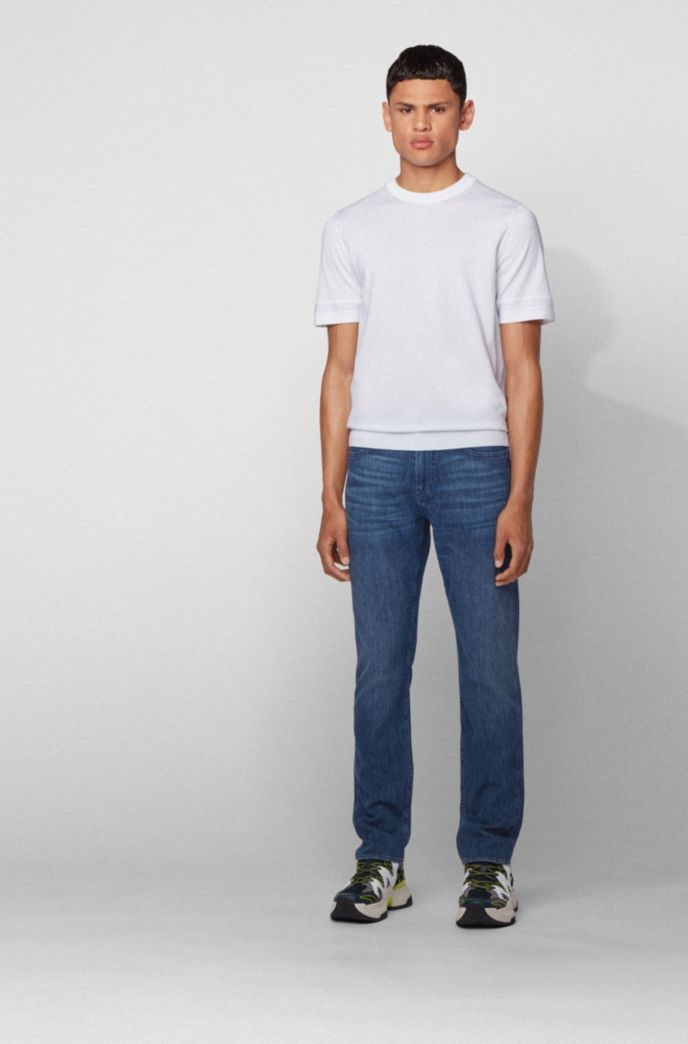 Slim-fit jeans in lightweight Italian stretch denim