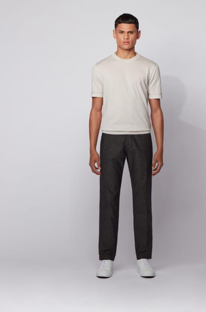 Regular-fit chinos in bi-colored stretch fabric