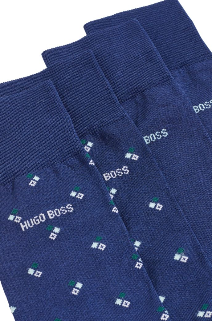 Two-pack of regular-length business socks in a cotton blend
