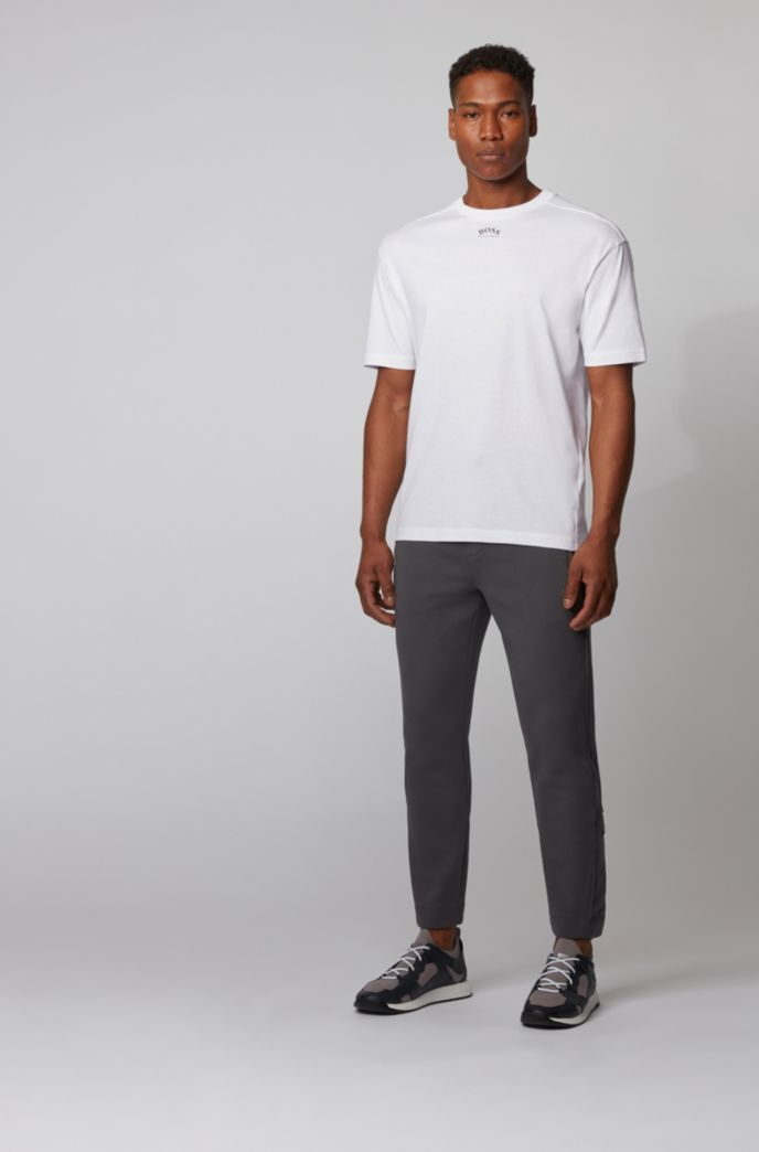 Cotton T-shirt with front and rear logos