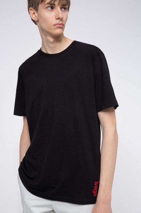 Unisex cotton T-shirt with graphic print, Black
