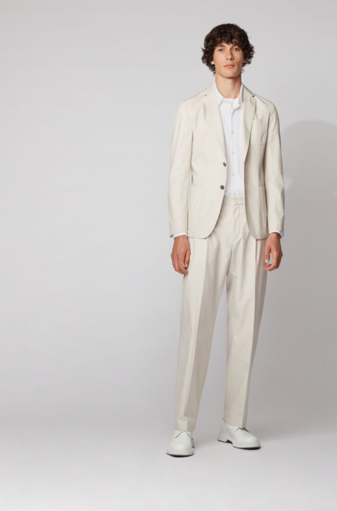 Slim-fit shirt in washed cotton piqué