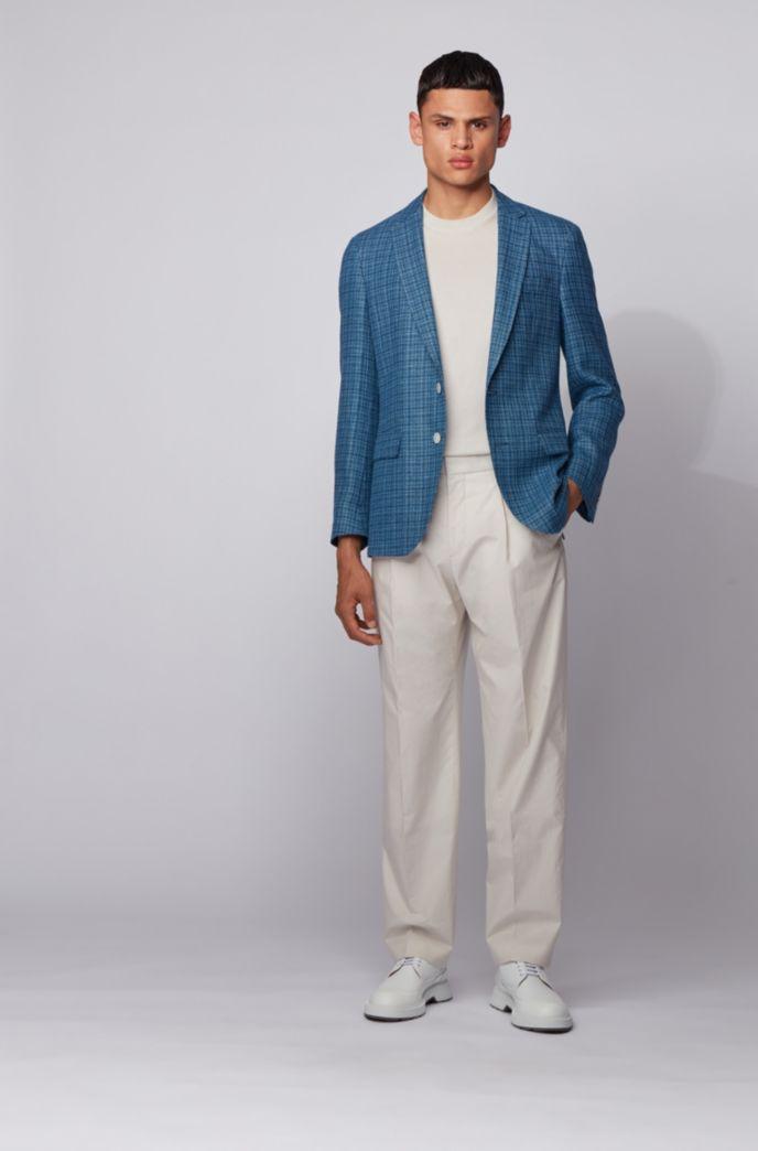 Slim-fit suit in a hemp-wool blend