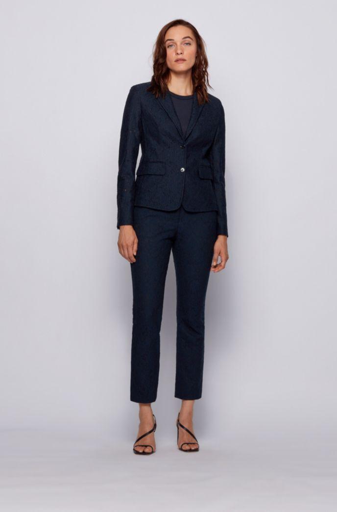 Regular-fit jacket in bonded lace