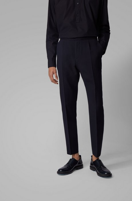 Boss Slim Fit Pants In Seersucker Fabric With Stretch