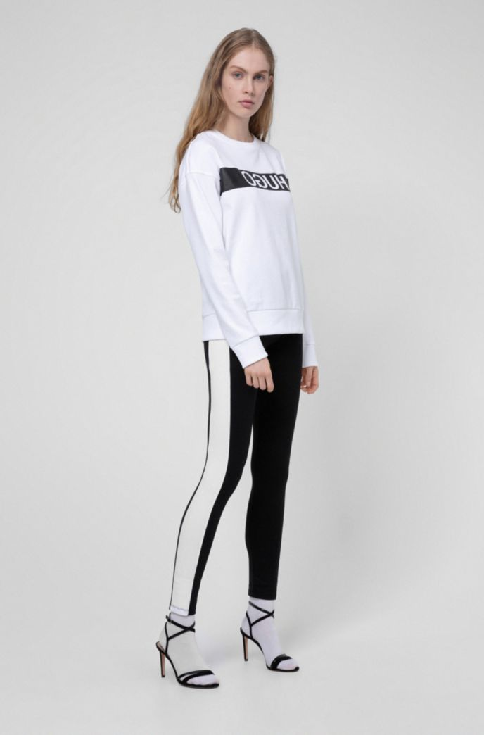 Relaxed-fit sweatshirt with reverse-logo print