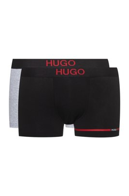 Two-pack of logo trunks in stretch-cotton jersey, Red