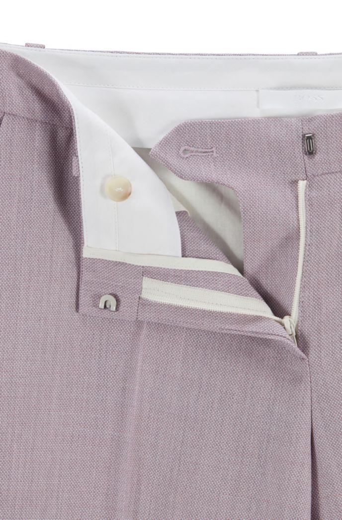 Regular-fit pants in plain-check virgin wool