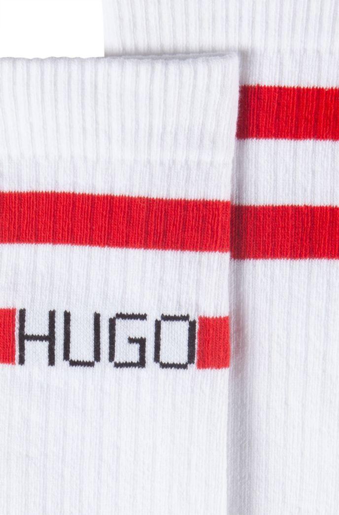 Skater-length cotton-blend socks with logo and stripe