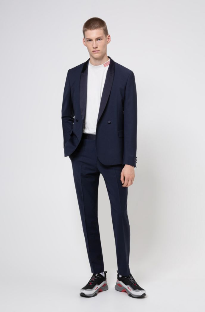 Slim-fit dinner suit in a virgin wool blend