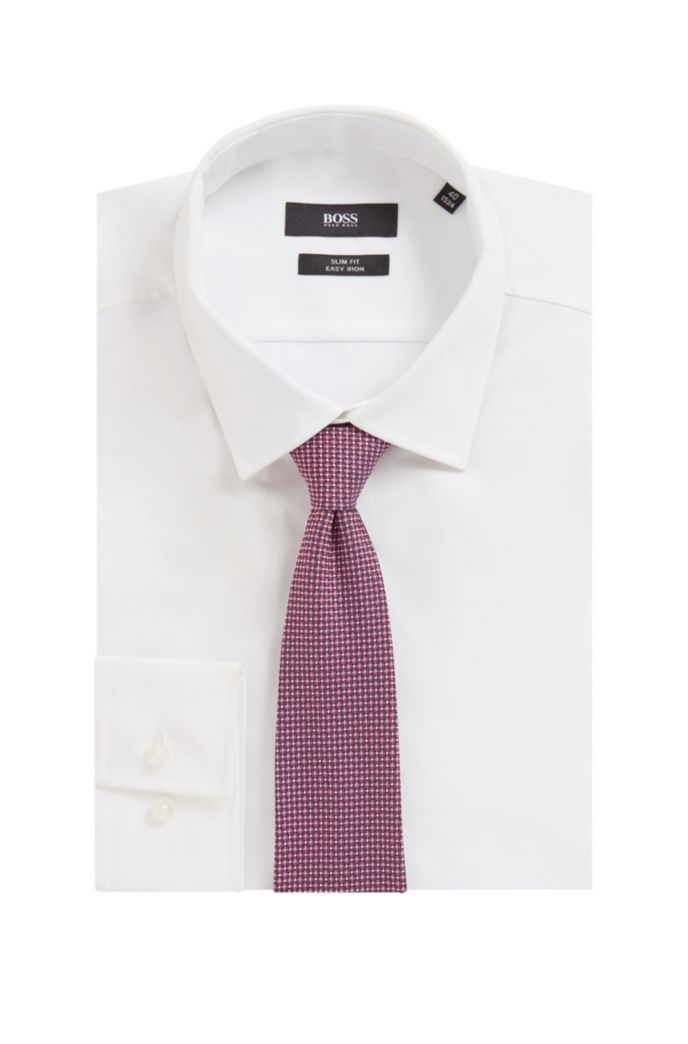 Italian-made tie in a micro-patterned silk blend