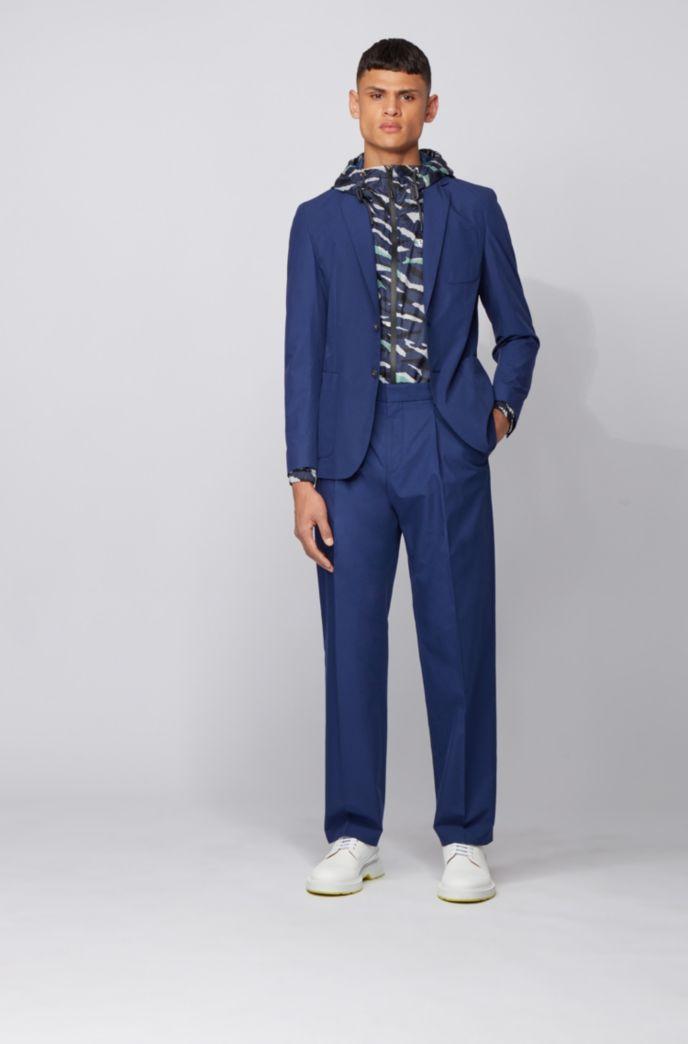 Pantalon Relaxed Fit en coton à taille haute
