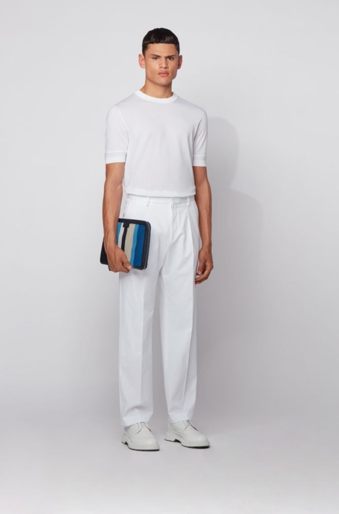 Relaxed-fit pants in stretch-cotton twill