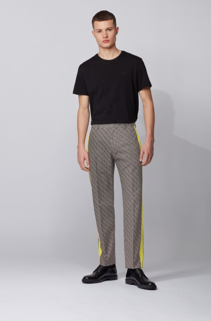 Relaxed-fit pants in cotton with contrast panels