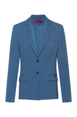 Regular-fit jacket in pique fabric, Dark Blue