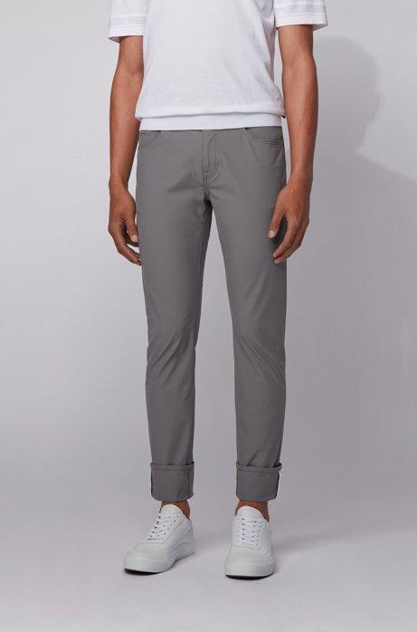 Slim-fit jeans in technical-stretch denim, Grey