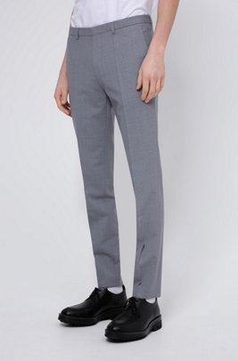 Extra-slim-fit pants in a virgin-wool blend, Light Grey