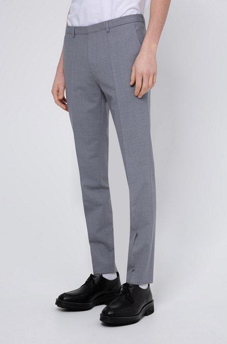 Extra-slim-fit pants in a virgin-wool blend, Open Grey
