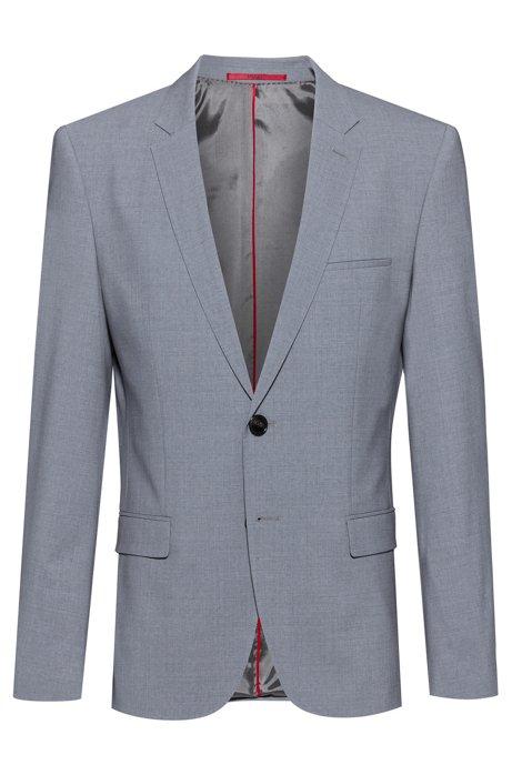 Extra-slim-fit jacket in a virgin-wool blend, Open Grey