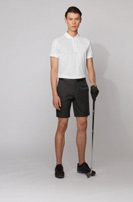 Slim-fit polo shirt with body-mapping and S.Café®, White