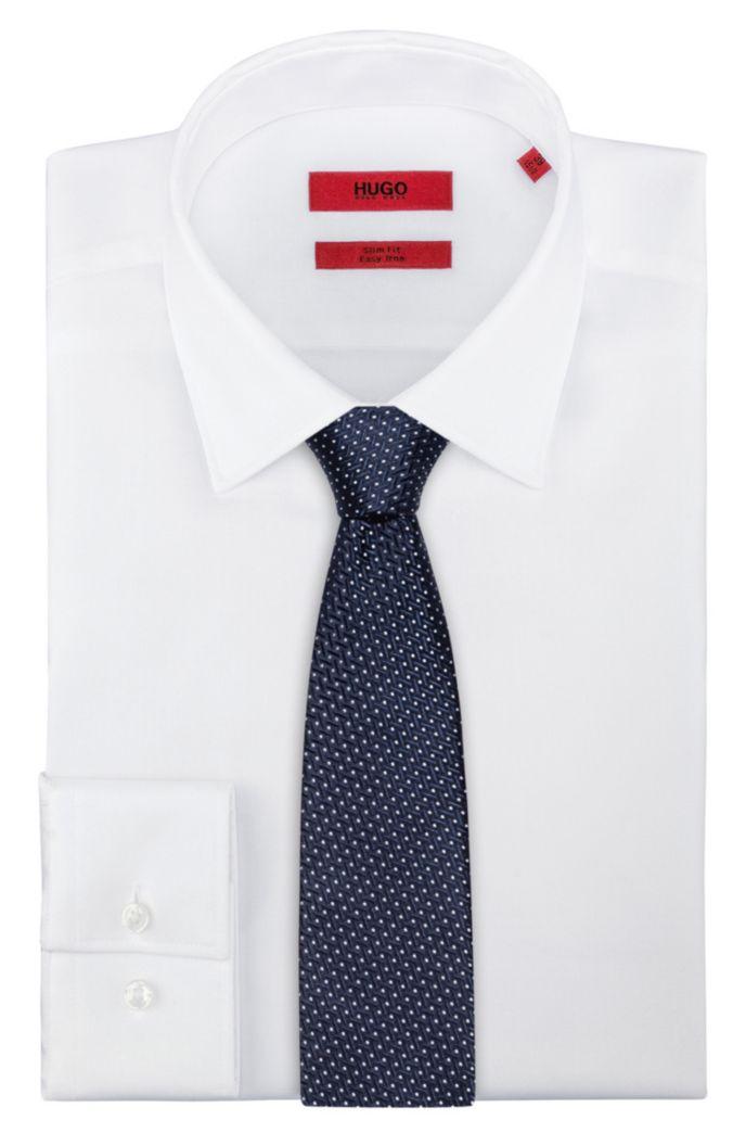Silk-jacquard tie with micro-dot pattern
