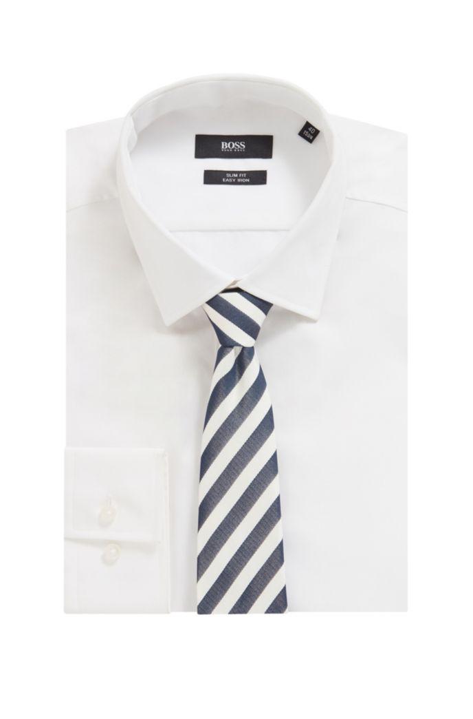 Block-stripe tie in silk jacquard