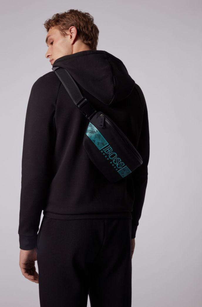 Logo belt bag in structured nylon