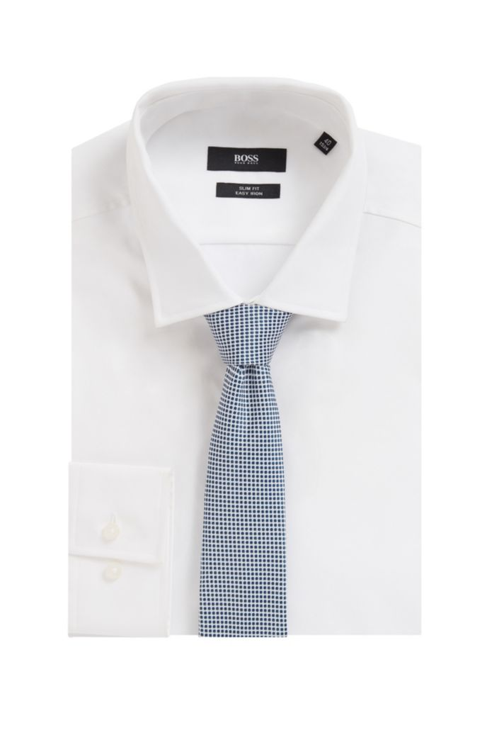 Italian-made patterned tie in 100% recycled fabric
