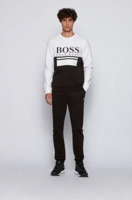 Hugo Boss Mens Light Gray Cotton Mix /& Match Tracksuit