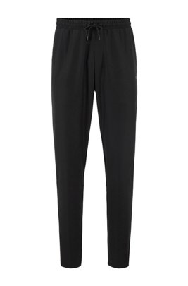Jogging pants in S.Café® fabric with drawstring waist, Black