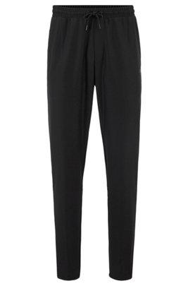 Pantalon de survêtement en tissu S.Café®, avec cordon de serrage à la taille, Noir