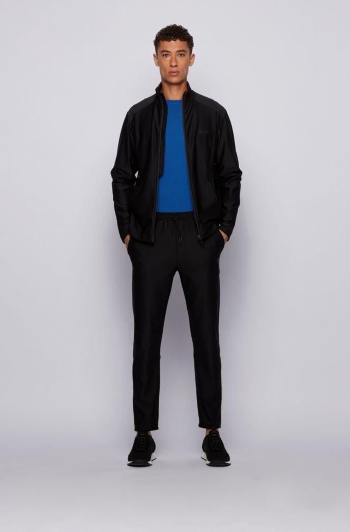 Zip-through sweatshirt in active-stretch S.Café® fabric