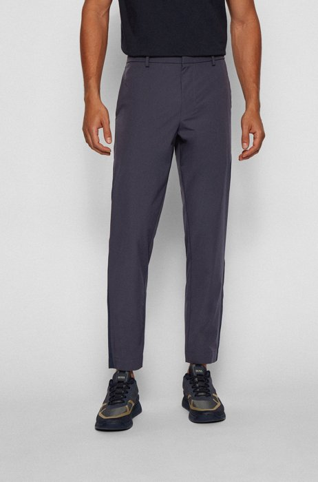 Tapered-fit pants in water-repellent stretch fabric, Dark Blue