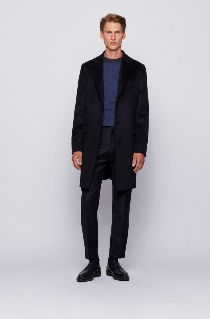Slim-fit sweater in micro-houndstooth virgin wool
