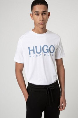 Logo-print T-shirt in African cotton, White