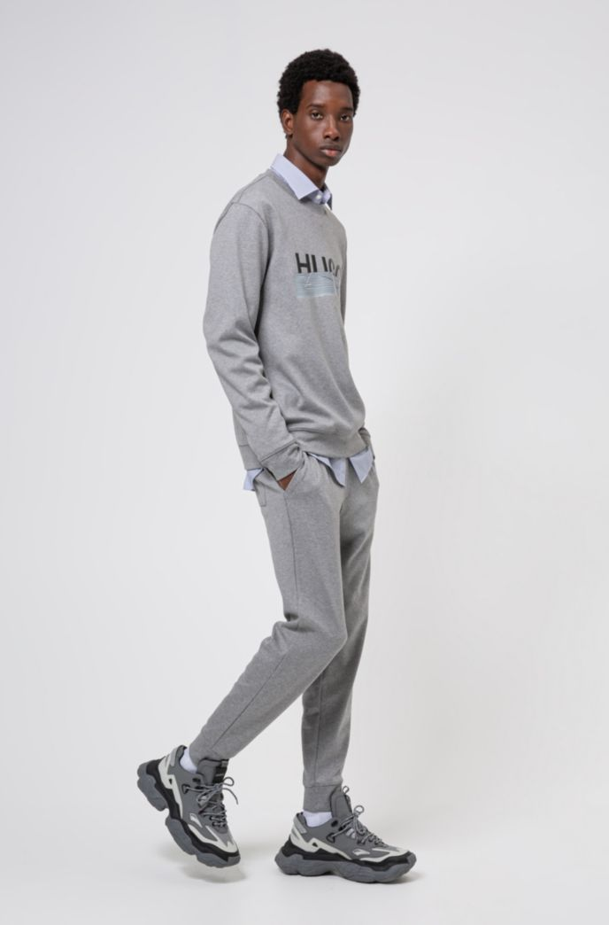 Cuffed jogging pants in cotton with new-season logo