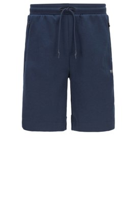 Jersey shorts with reflective details, Dark Blue