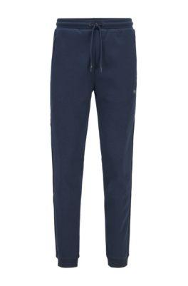 Slim-fit jogging pants with reflective details, Dark Blue