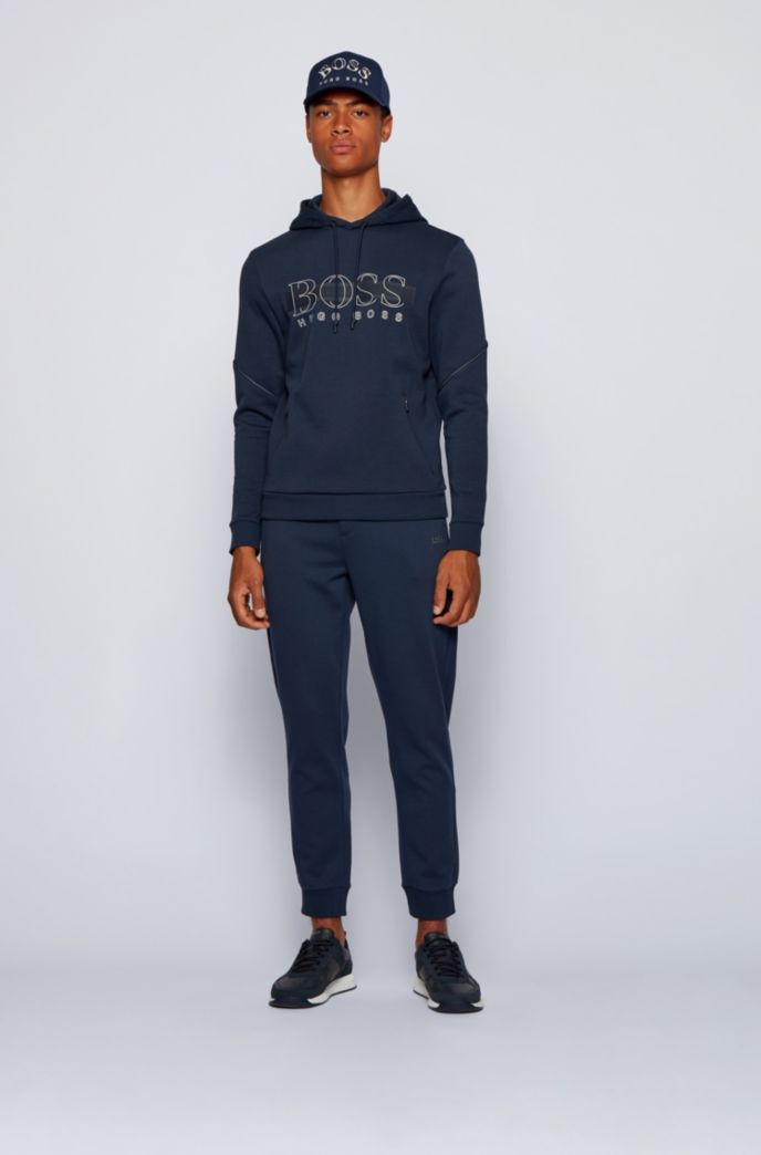 Hooded sweatshirt with reflective details